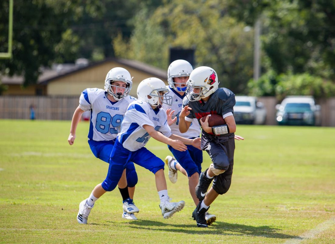 Little Flower Catholic School Football player outruns multiple players from opposing St. Paul team