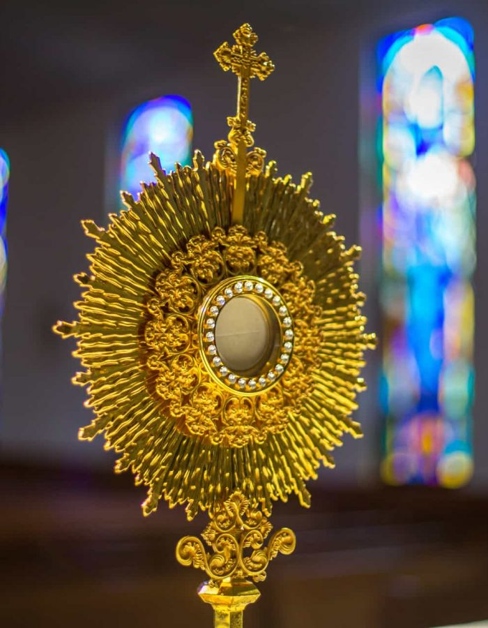 A monstrance used during adoration