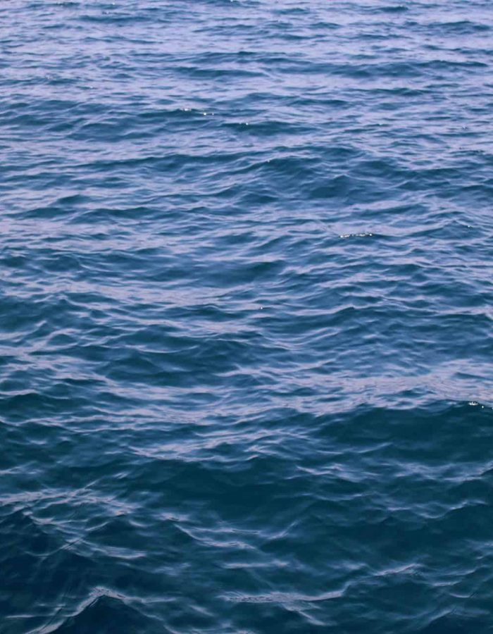 Blue calm water to help illustrate the power of baptism